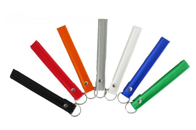 Farbige Schlüsselbänder aus Blachenmaterial