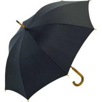 Schirm schwarz mit Holzstock