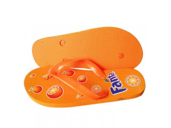 Flip-Flop orange bedruckt
