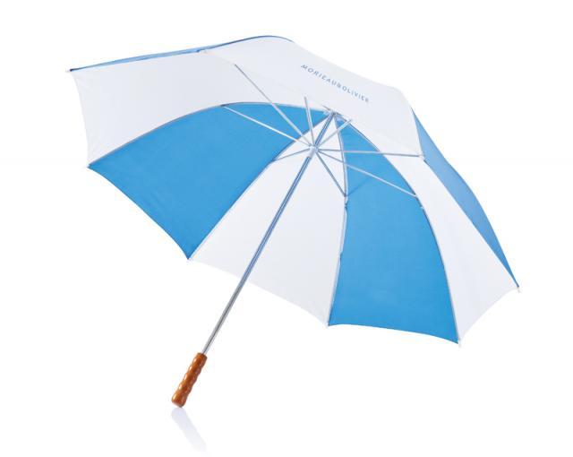 Schirm blau weiss