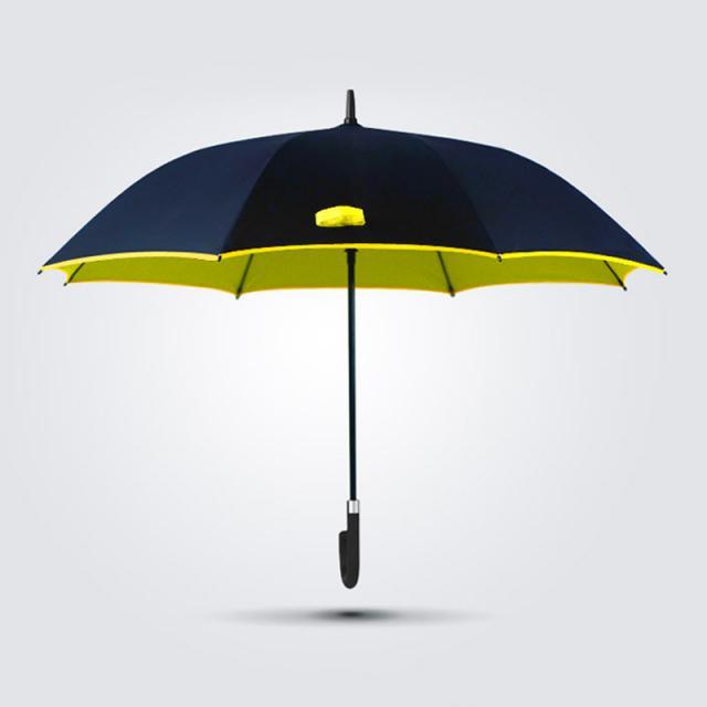 Schirm mit gelber umrandung