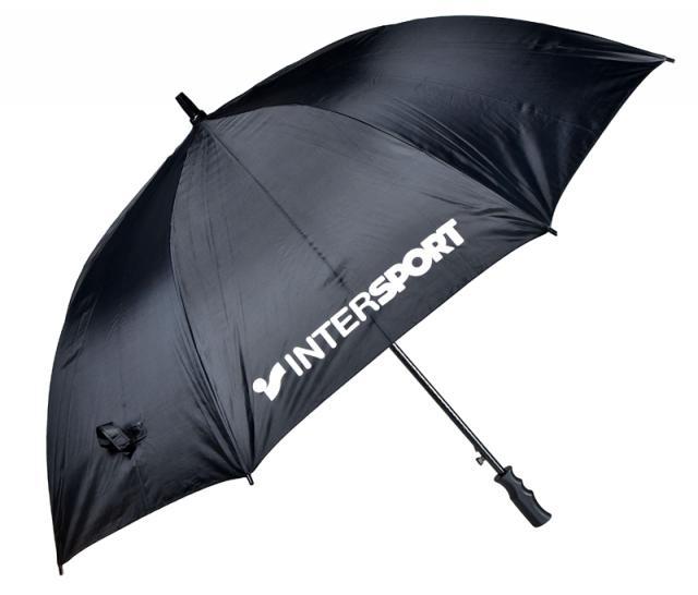 Werbegeschenk - Schirm schwarz mit geradem Griff