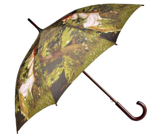 Schirm bedruck mit Holzgriff