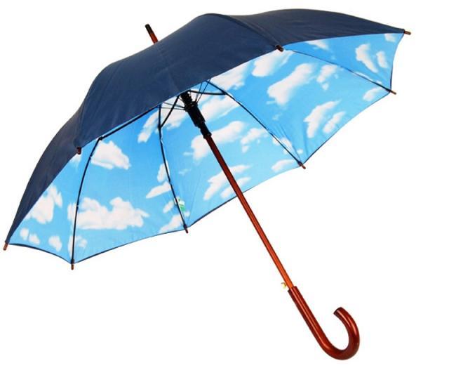 Schirm mit Wolken Innendruck