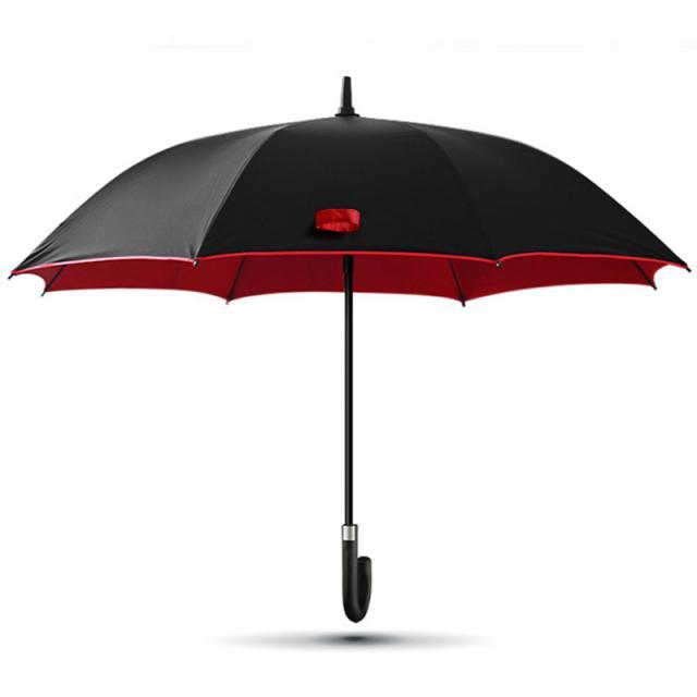 Schirm rot umrandet